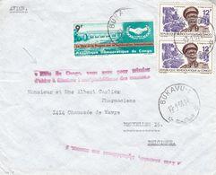 République Du Congo - Lettre De 1968 °  - Oblit Bukavu - Exp Vers Bruxelles - Avec 2 Griffes - République Du Congo (1960-64)