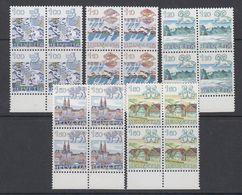Switzerland 1982 Definitives 5v Bl Of 4 ** Mnh (42215C) - Zwitserland