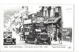 21683 - London Alway Licht Old Caterham Tilling Bus Route C1926 Pamlin Prints Croydon Platform One Fulham Road London - London