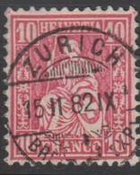Schweiz,15.2.1882, Zürich, 46, Sitzende Helvetia, Vollstempel, Siehe Scan! - 1862-1881 Sitted Helvetia (perforates)