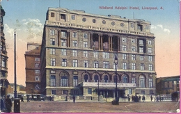 -- MIDLAND ADELPHI HOTEL - LIVERPOOL  -- ANIMATION -- CARTE PHOTO - 1925 - Liverpool