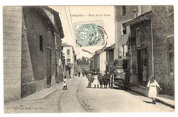 CHAZELLES (16) - Rue De La Gare - Ed. R. Bazin - Autres Communes