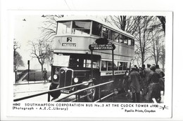 21684 - London Southampton Corporation Bus N°5 At The Clocks Tower Pamlin Prints Croydon Platform One Fulham Road London - London
