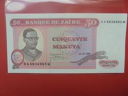 ZAIRE 50 MAKUTA 1980 PEU CIRCULER/NEUF - Zaïre