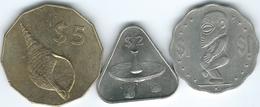 Cook Islands - 2003 - Elizabeth II - 4th Portrait - 1 Dollar (KM416) 2 Dollars (KM417) & 5 Dollars (KM418) - Cook Islands