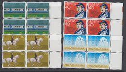 Switzerland 1982 Commemoratives 4v  Bl Of 4 ** Mnh (42215E) - Zwitserland