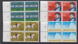 Switzerland 1982 Commemoratives 4v  Bl Of 4 ** Mnh (42215F) - Zwitserland