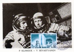 Carte 1er Jour  Soyouz 18 Bis   (24-5-1975)-  Piotr I. Klimouk Vitali I. Sevastyanov.. - Espace