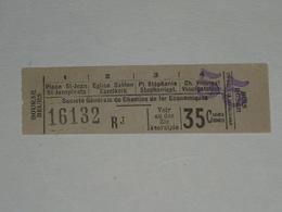 Ancien Ticket Tramway, Bruxelles Belgique.Ticket Autobus,Train, Metro. - Tramways