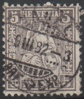 Schweiz, 9.3.1882, Basel, 45, Sitzende Helvetia, Vollstempel, Siehe Scan! - Oblitérés