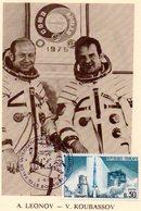 Carte 1er Jour  Soyouz 19   (15-7-1975)-  Alexei A. Leonov Valery N. Koubassov. - Espace