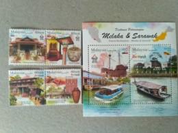Malaysia 2019 Stamps MS Sheet Miniture Tourist Destinations Melaka Malacca & Sarawak MNH - Malaysia (1964-...)