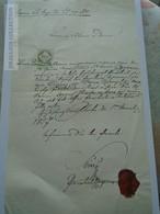 ZA185.10  Old Document Slovakia  Siglisberg?  1857 -Füzessy Parochilai Cooperator Wistoupil - Naissance & Baptême