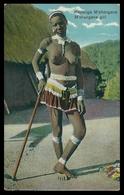 MOÇAMBIQUE - COSTUMES - Rapariga M'shangana. ( Ed. Spanos P. O. Box Nº 6388) Carte Postale - Mozambique