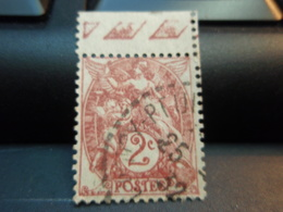 Timbres Oblitéré Type Blanc 2 C Bande Au Haut 1932 - 1900-29 Blanc