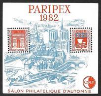 Bloc CNEP N° 3 - PARIPEX 1982   - Variété Sans Traits Sur Les Toits- Nsg - 3° Choix - CNEP