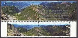 Liechtenstein 2012 - Berge, Mountain, Mountains, Landscapes, Paysages, Montagne, Valleys Panorama MNH - Liechtenstein