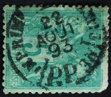 -Sage N°75 Type Ll. O PARIS-JOURNAUX 22 Aôut 1893. - 1876-1898 Sage (Type II)