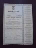 PORTUGAL - LISBONNE 1832 - OBLIGATION DE 1000 FRS , EMPRUNT ROYAL DE PORTUGAL - ETAT VOIR SCAN - Actions & Titres