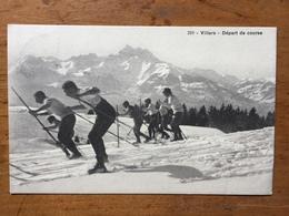 (ski, Suisse) Villars-sur-Ollon: Départ De Course, 1910. - Sports D'hiver