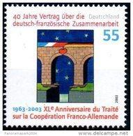 Emission Commune France Allemagne 2003 40e Anniversaire Traité De L'Elysée Coopération Tomi Ungerer Yvert N°2139 - Emissions Communes