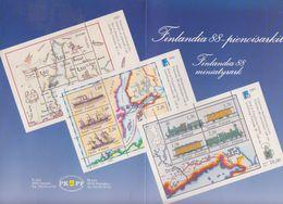 Finland 1988 Finlandia Presentation Folder With 4 M/s ** Mnh (F7704) - Finland