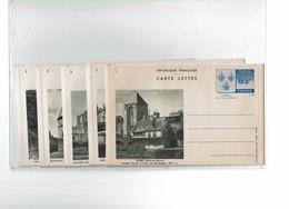 SAPR03 - SERIE NEUVE DE 10 CARTES LETTRE ARMOIRIES DE L'ÎLE DE FRANCE NOIR SUR BLANC 1-1938 YVON TB COTE 320 EUR - Entiers Postaux