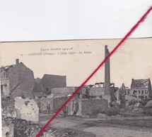 CP 59   -  COMINES  - L'Usine Signier  -   Ses Ruines   - Guerre Mondiale 1914  -  1918 - France
