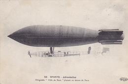 """Cpa -aviation-sports Aerostation- Dirigeable """"ville De Paris""""edi E.LE Deley N°50- - Dirigeables"""