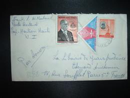 LETTRE Par Avion Pour FRANCE TP FRANCOIS DUVALIER 1,00 + CONTRE LE PALUDISME 50c + DESSALINES 10c OBL. CAP HAITIEN - Haïti