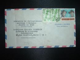 LETTRE Par Avion Pour FRANCE TP SCOUTS 1,50 + ALPHABETISATION 5c Paire OBL.MEC. 1962 - Haïti