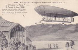 "Cpa -aviation-essais De Navigation Aerienne A Chalais Meudon- Dirigeable ""la France"" (renard & Krebs)-edi J. Hauser - Dirigeables"