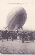 Cpa -aviation-zeppelin IV A Luneville-animée-vu De L'avant - Dirigeables