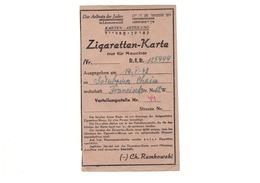 Ghetto Litzmannstadt - Zigarettenkarte - Judaika / Judaica - Documenti Storici