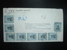 LETTRE Par Avion Pour FRANCE TP DESSALINES 25c + Paire + Bande De 5 OBL.26 JUIN 1957 PORT AU PRINCE - Haïti