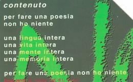 SCHEDA TELEFONICA  VENEZIA POESIA E CONTENUTO   SCADENZA 31/12/1999 USATA - Italy