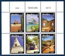 ARUBA 883/88 Tramway, Phare, Paquebot, église - Tramways