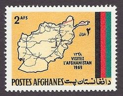 Afghanistan 1969 - Visit, Tourism, Map, Flag MNH - Afghanistan
