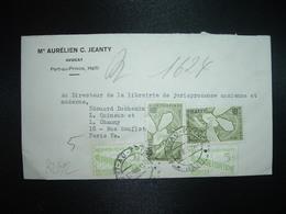 LETTRE Pour FRANCE TP CONTRE LA FAIM 1,00 X2 + ALPHABETISATION 5c X2 OBL.27 JUIL 1963 PORT AU PRINCE +C JEANTY - Haïti