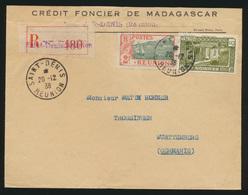 Madagaskar Reunion R Brief Saint Denis Nach Trossingen Württemberg  - Réunion (1852-1975)