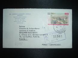 LR Par Avion Pour FRANCE TP BATALLA DE CARABOBO 1,50 OBL.9-8 63 + DR HERNAN GIMENEZ ANZOLA ABOGADO CARACAS - Venezuela