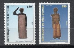 COSTA DE MARFIL 1998 - COTE D'IVOIRE - TRAJES REGIONALES - YVERT Nº 1005/1006** - Textile