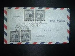LETTRE Par Avion Pour FRANCE TP CORREOS CARACAS 15c X 2 Paires OBL. ? OCT 56 CARACAS - Venezuela