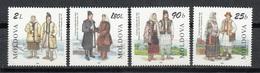 MOLDAVIA 1999 - MOLDOVA - TRAJES REGIONALES - YVERT Nº 255/258** - Textile