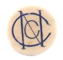 """Ancien Jeton En OS ? : Casino De """"NC"""" Ou """"CN"""" : 5 Francs : Diamètre 34 Mm - Casino"""