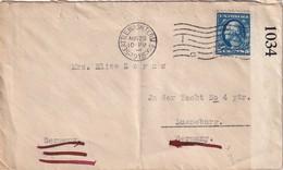 USA 1916 LETTRE CENSUREE DE SEATTLE POUR LUENEBURG - Etats-Unis