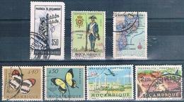 Mozambique 1953 / 67  -  Yvert 423 + 424 + 445 + 520 + 533 + AE 30 + AE 31  ( Usados ) - Mozambique