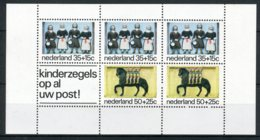 NEDERLAND 1083 MNH** Blok 1975 - Kinderzegels, Gevelstenen - Blocs