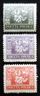 1922-23 Pologne Yt 257, 258, 259 Miner In Silesia . Neufs Traces Charnières - Neufs