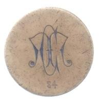 """Ancien Jeton En OS ? : Casino De """"M"""" : 5 Francs : Numéroté 84 : Diamètre 33 Mm - Casino"""